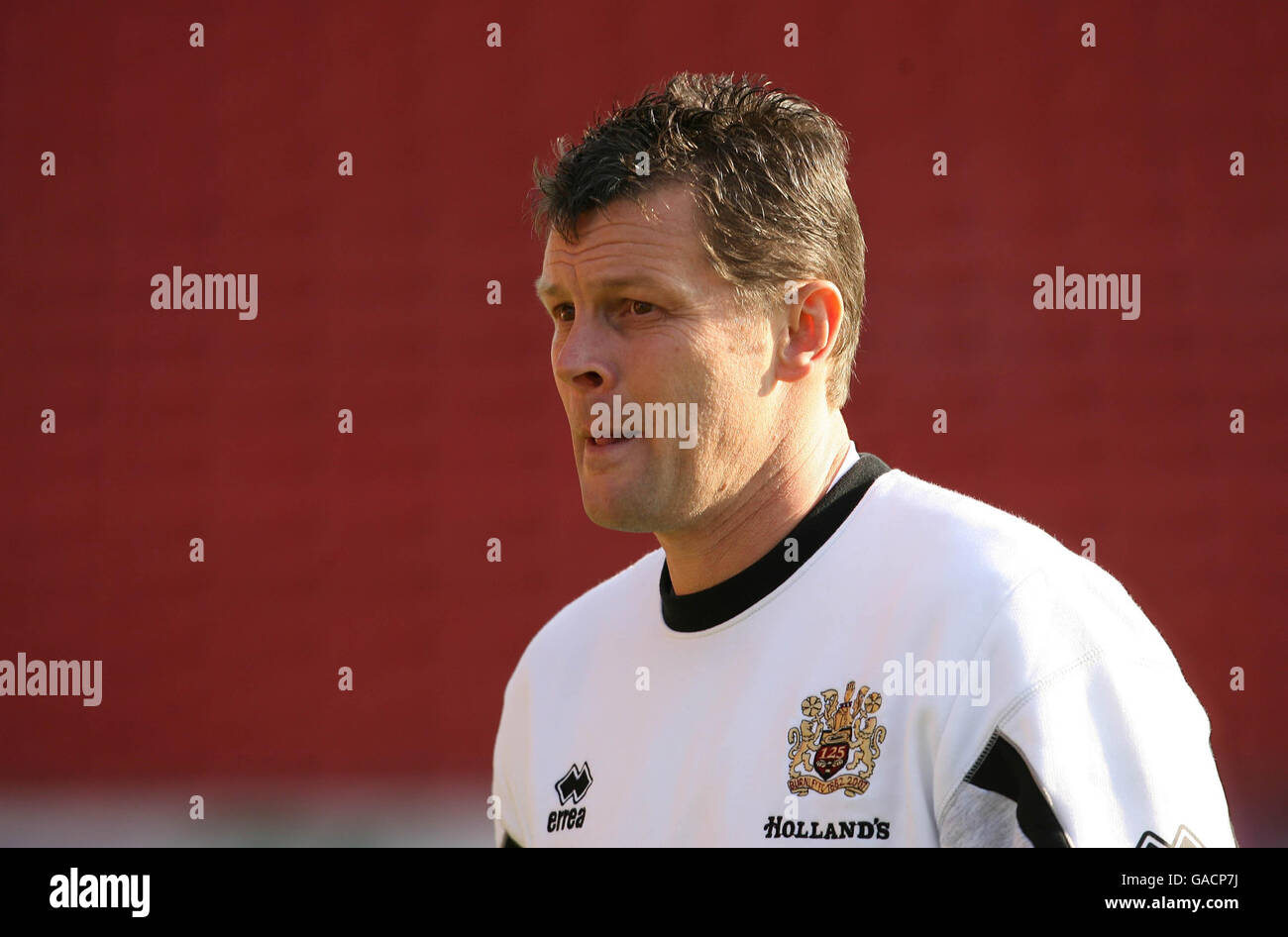 Steve Cotterill Manager Of Burnley Football Club Stock