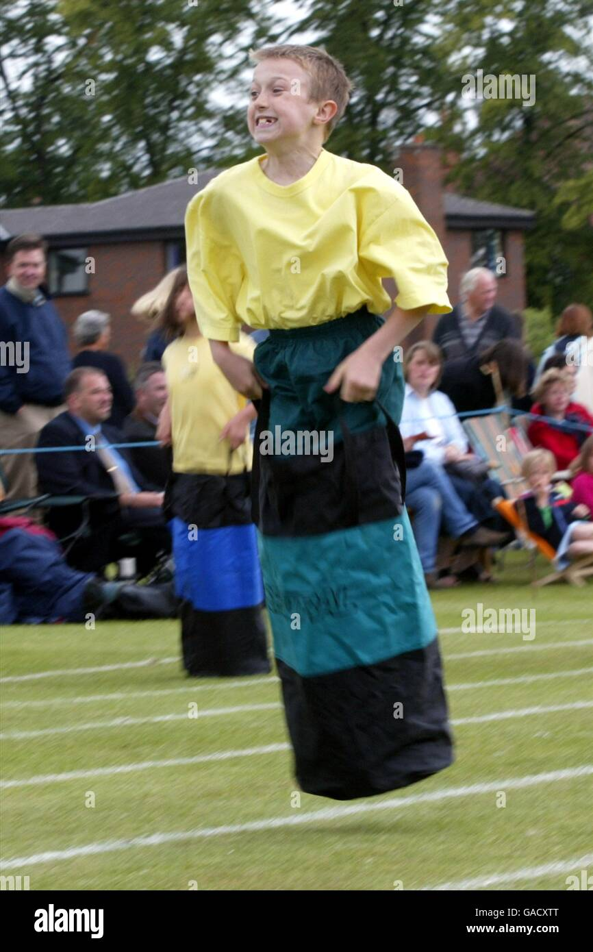 Athletics - The Elms School Sports Day - Stock Image