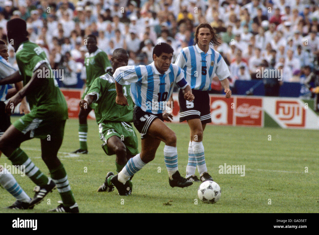 6100beb13d2ea1 Soccer - World Cup USA 1994 - Group D - Argentina v Nigeria - Foxboro  Stadium