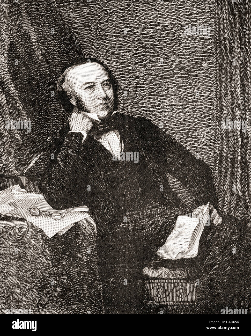 Sir Rowland Hill, 1795 – 1879.  English teacher, inventor and social reformer, best known for originating the basic - Stock Image