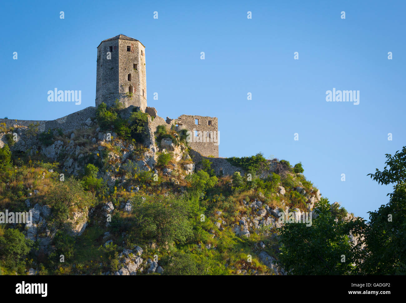 Pocitelj, Herzegovina-Neretva, Bosnia and Herzegovina. Citadel Pocitelj, the 14th century fortress. - Stock Image
