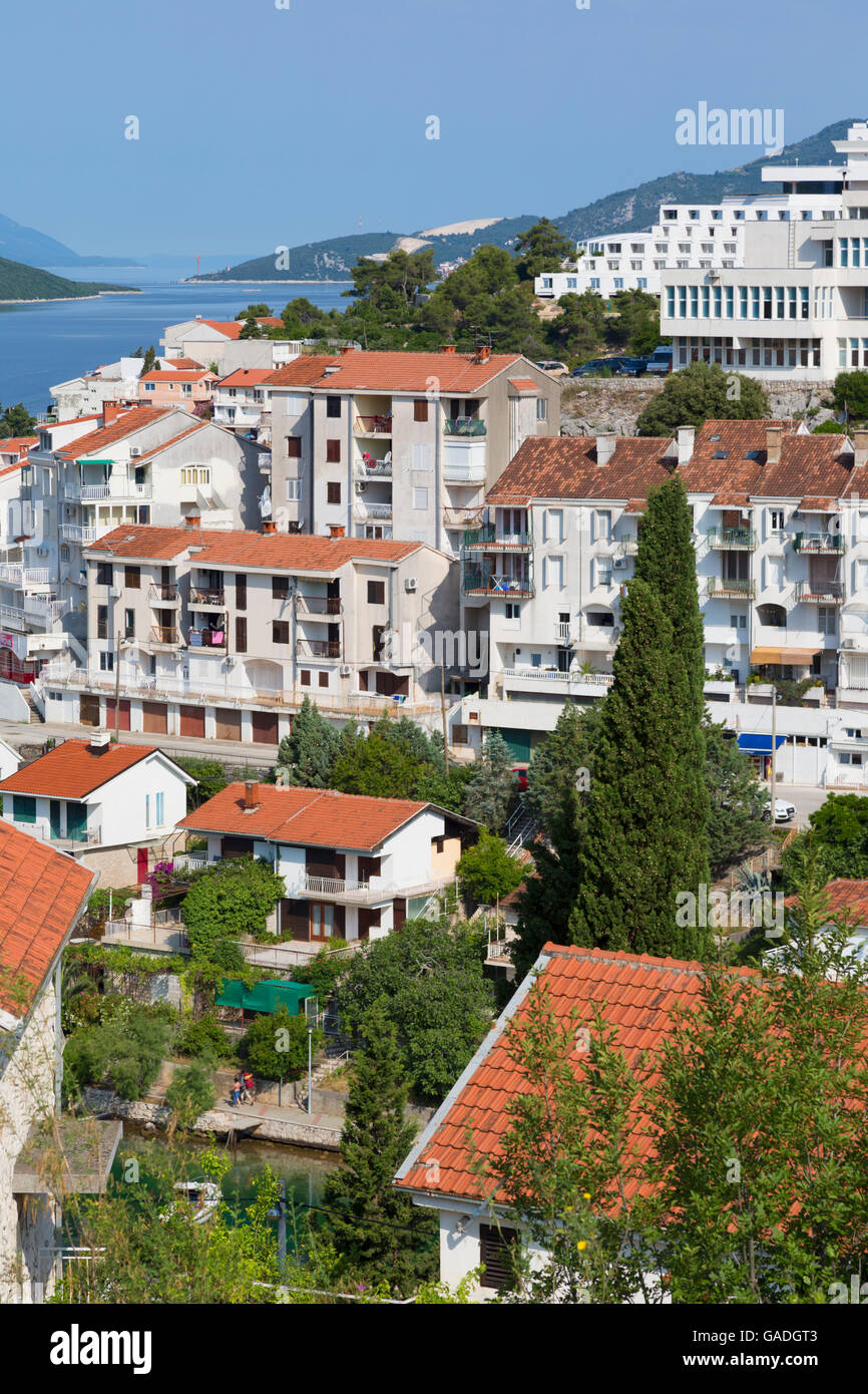 Neum, Bosnia-Hercegovina. Property with sea view. - Stock Image