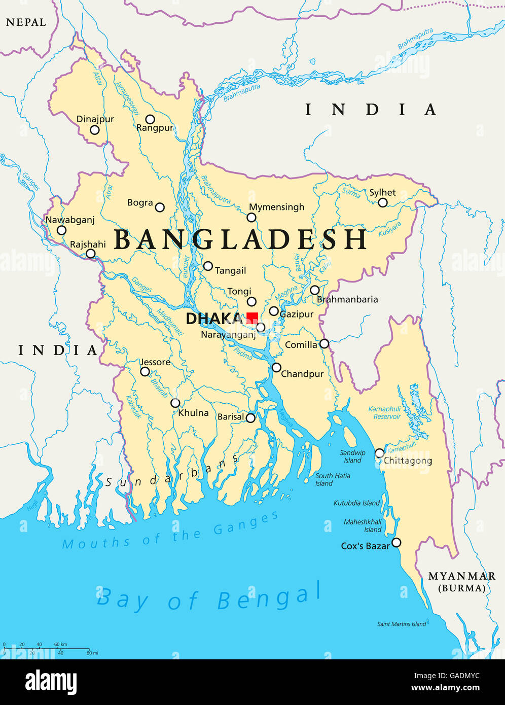 India Bangladesh Map Stock Photos & India Bangladesh Map Stock ...