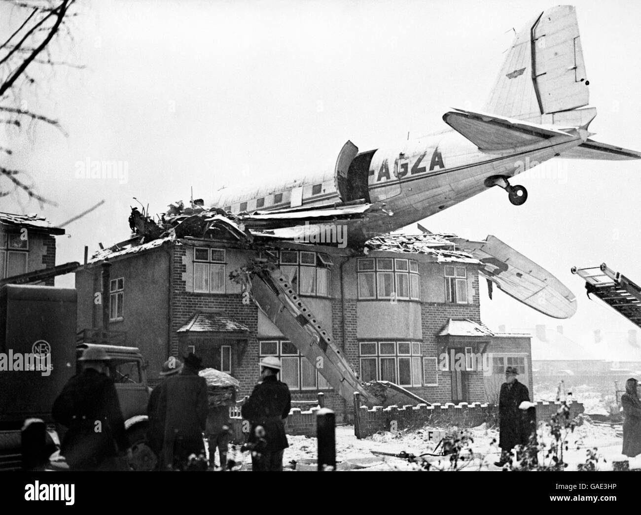 Accidents and Disasters - Air Crash - Northolt - 1946 - Stock Image