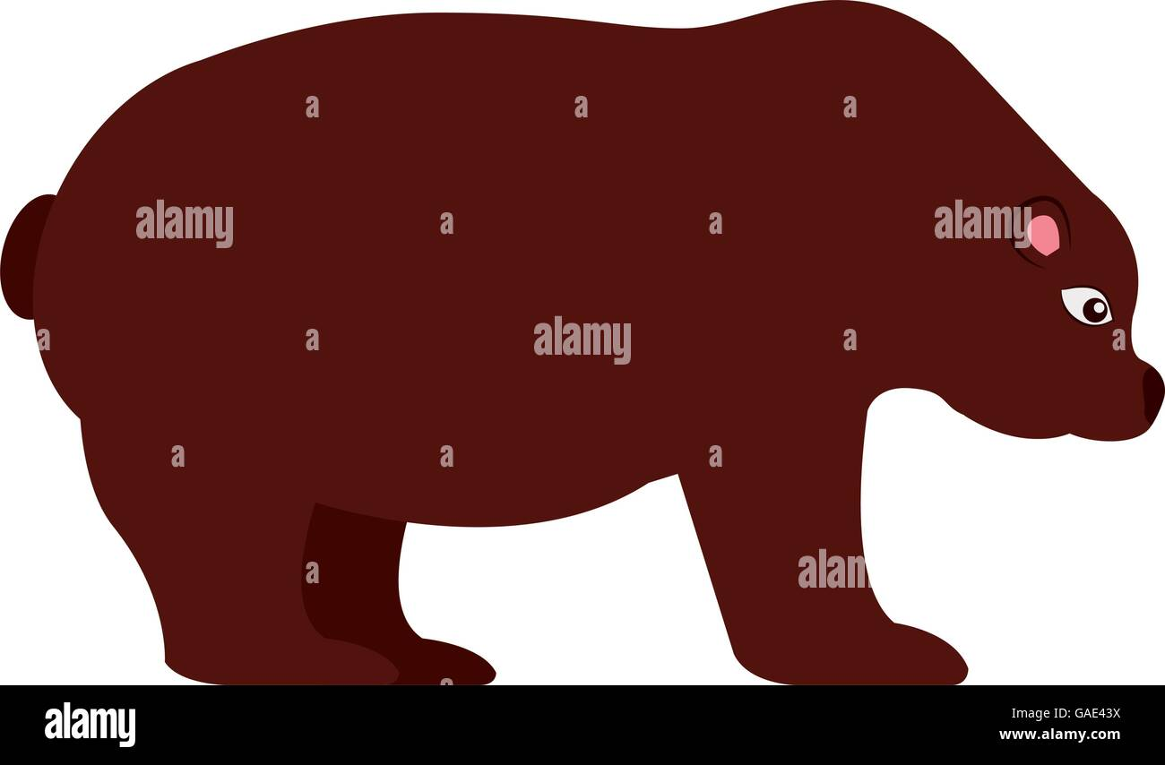 stock bear isolated icon design - Stock Image
