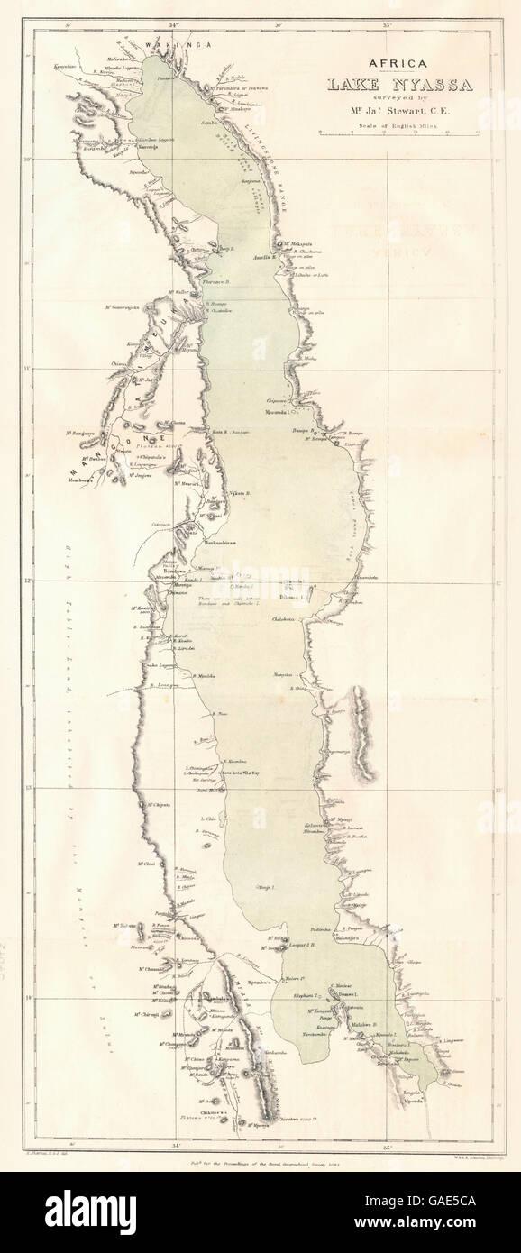 Lake Nyasa Africa Map.Africa Lake Nyassa Malawi Nyasa Tanzania Mozambique Rgs