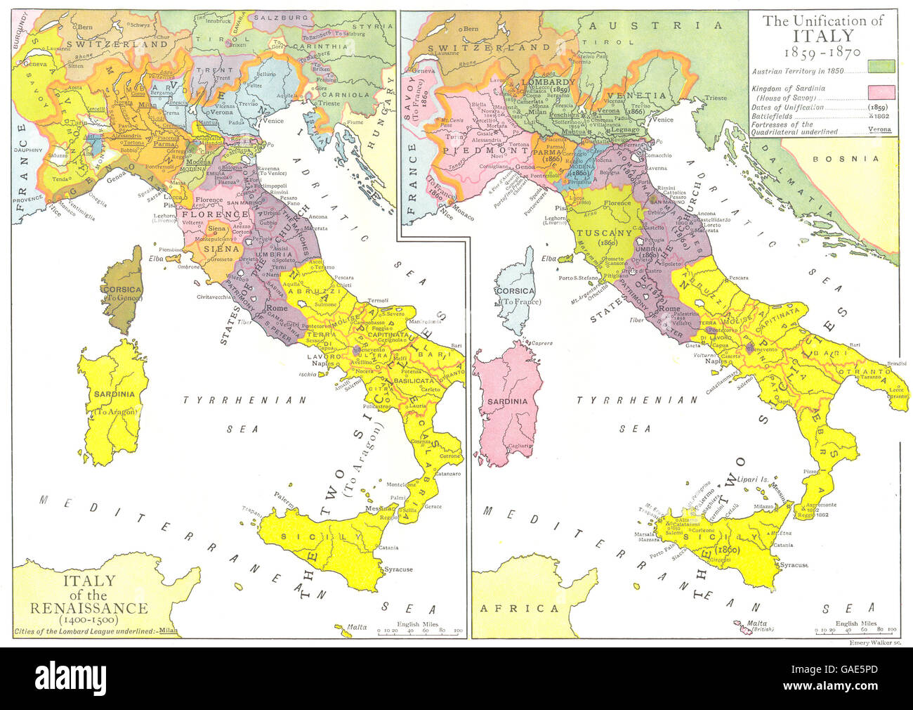 Italy Map 1500.Italy Of Renaissance 1400 1500 Unification 1859 1870 1910