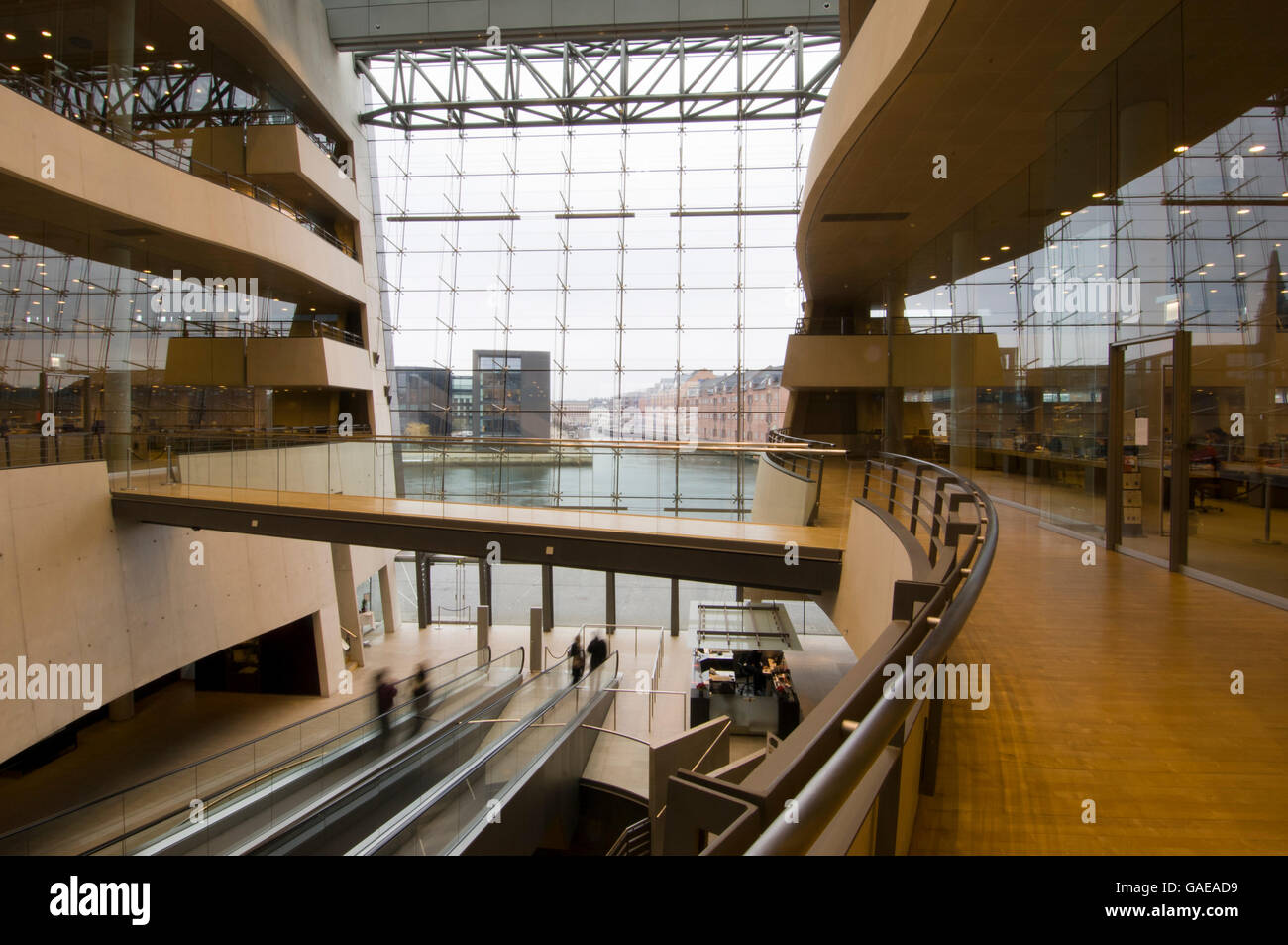 Black Diamond extension of the Royal Danish Library, Copenhagen, Denmark, Europe Stock Photo