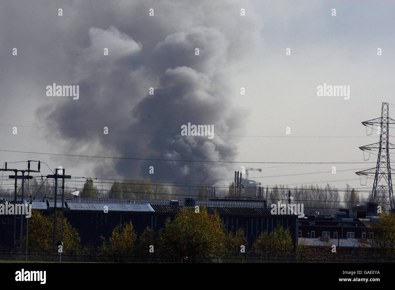 Fire in Stratford Stock Photo: 109727838 - Alamy