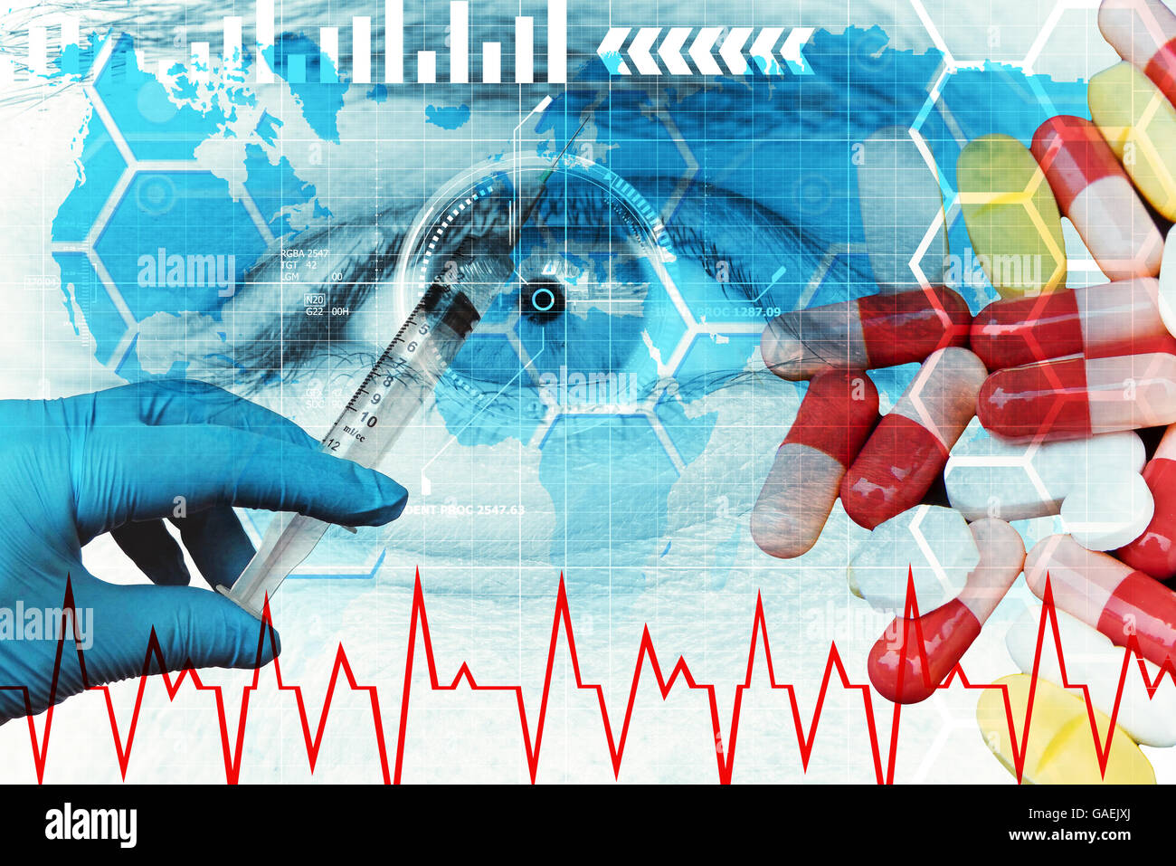 Health and biotechnology - Stock Image