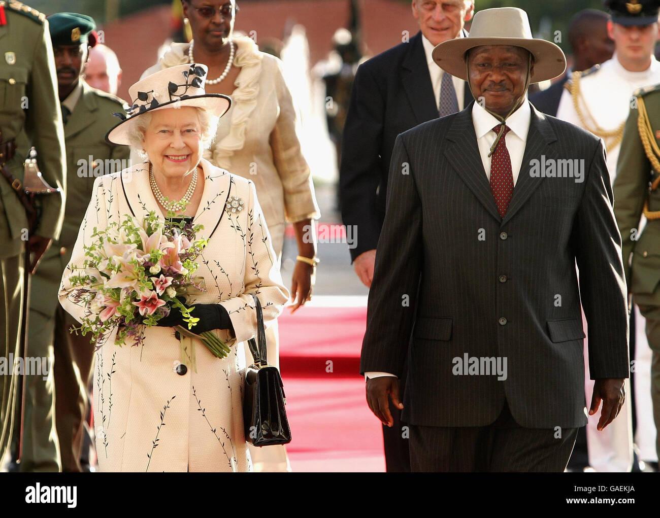royalty queen elizabeth ii visit to uganda stock photo 109731506 rh alamy com