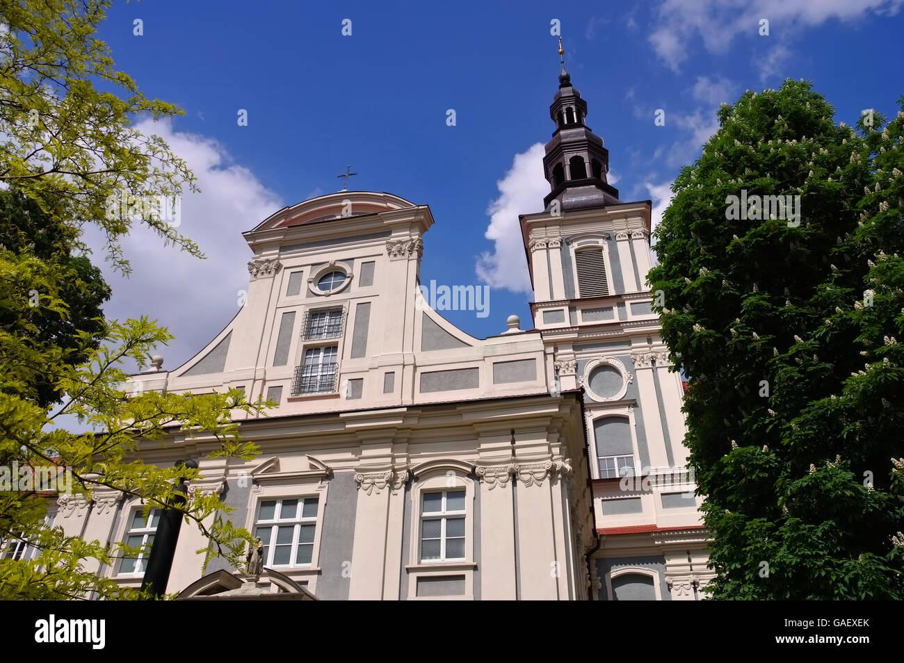 Breslau St.-Klara-Kirche in der Stadtmitte - Breslau, the St.-Klara-Church in the city - Stock Image