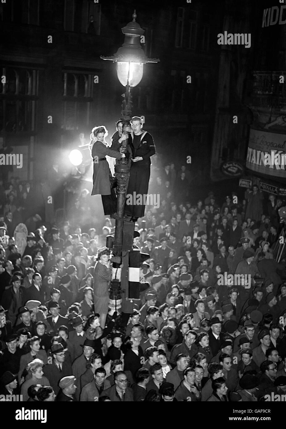 London Entertainment - Rainbow Corner - 1946 - Stock Image