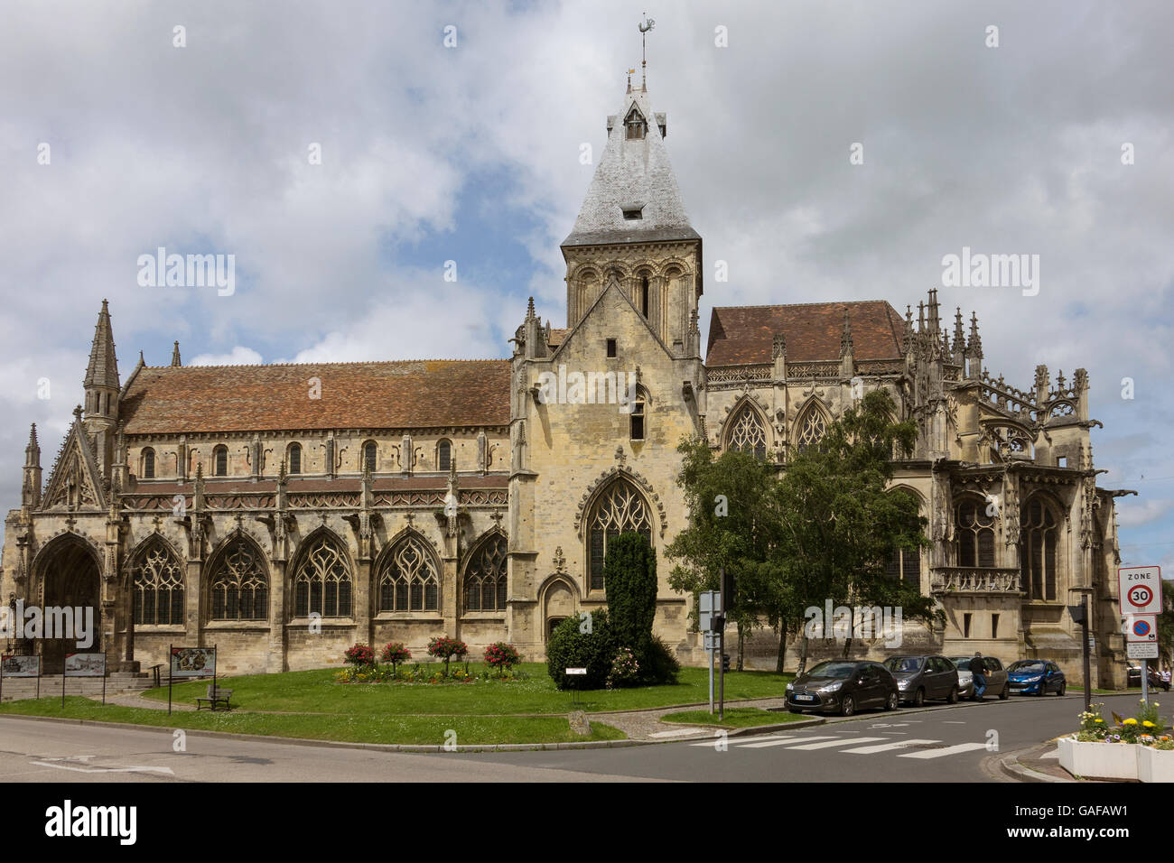 France, Normandy, Falaise, St.Gervaise church Stock Photo