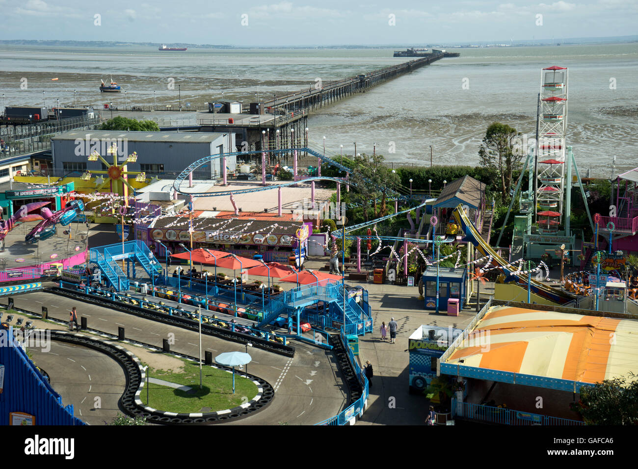 Sea front arcades at Southend-on-Sea. Essex.UK - Stock Image