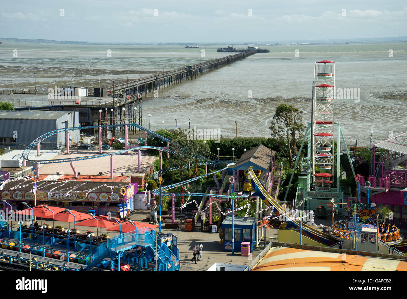 Sea front arcades at Southend-on-Sea. Essex.UK Stock Photo