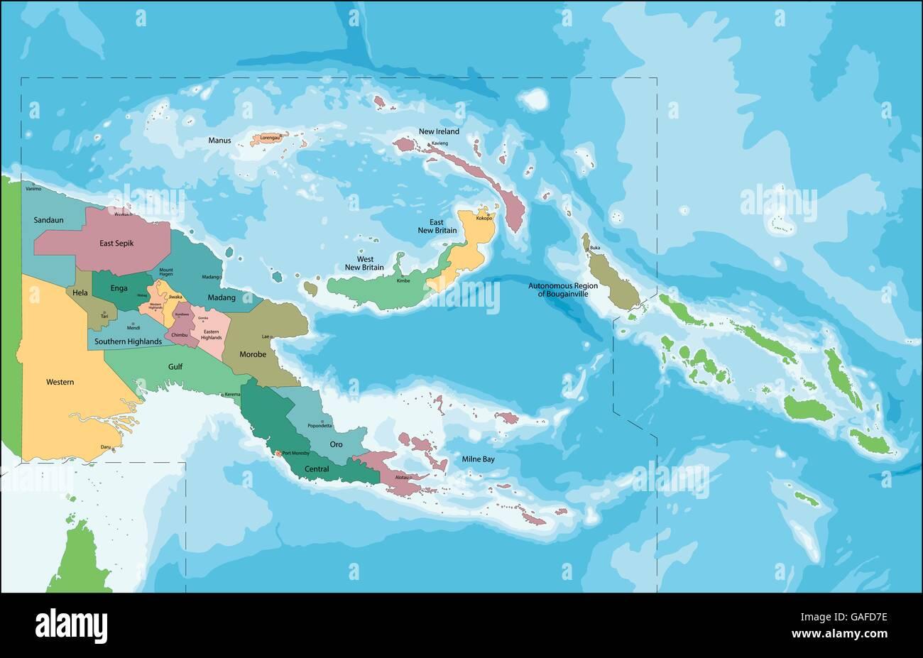 Papua New Guinea map Stock Vector Art & Illustration, Vector ...
