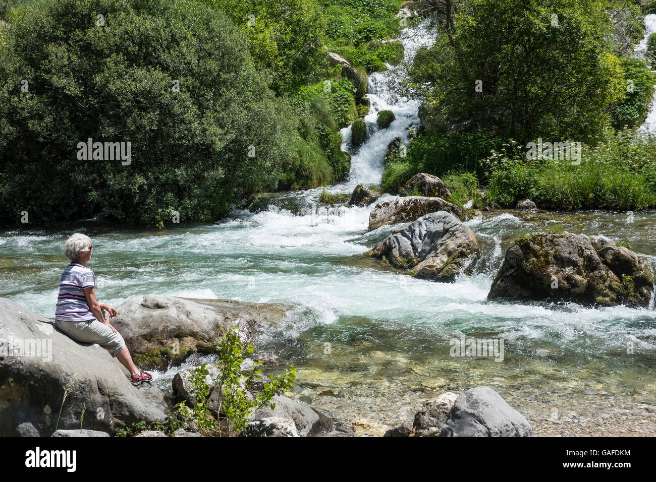 Spain, Leon, Picos de Europa, Cares valley - Stock Image