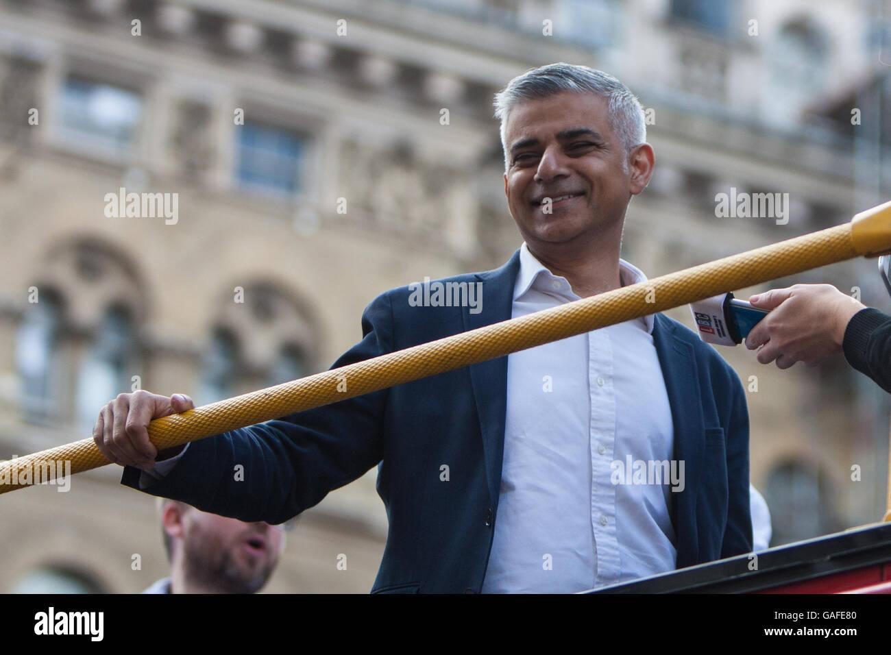 Sadiq Khan (mayor of London) Pride in London 2016 - Stock Image