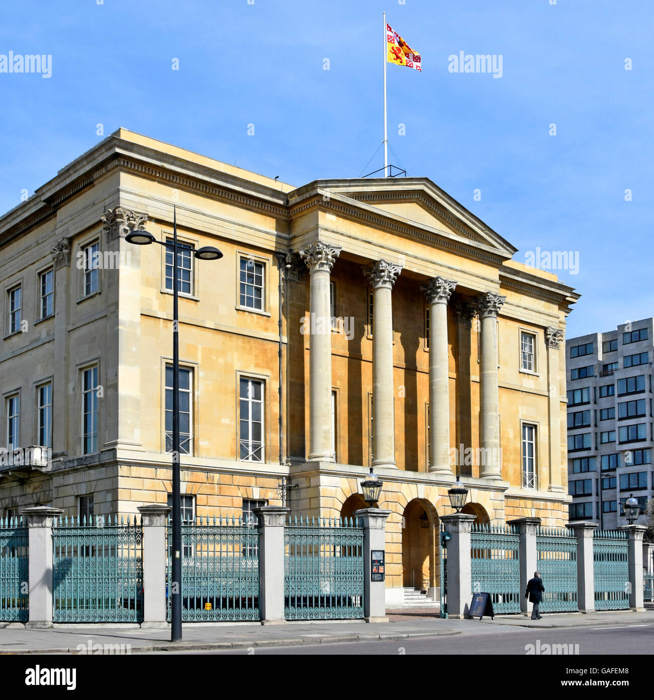 Apsley House London townhouse of Duke of Wellington also known as Number One London & open as museum & art - Stock Image