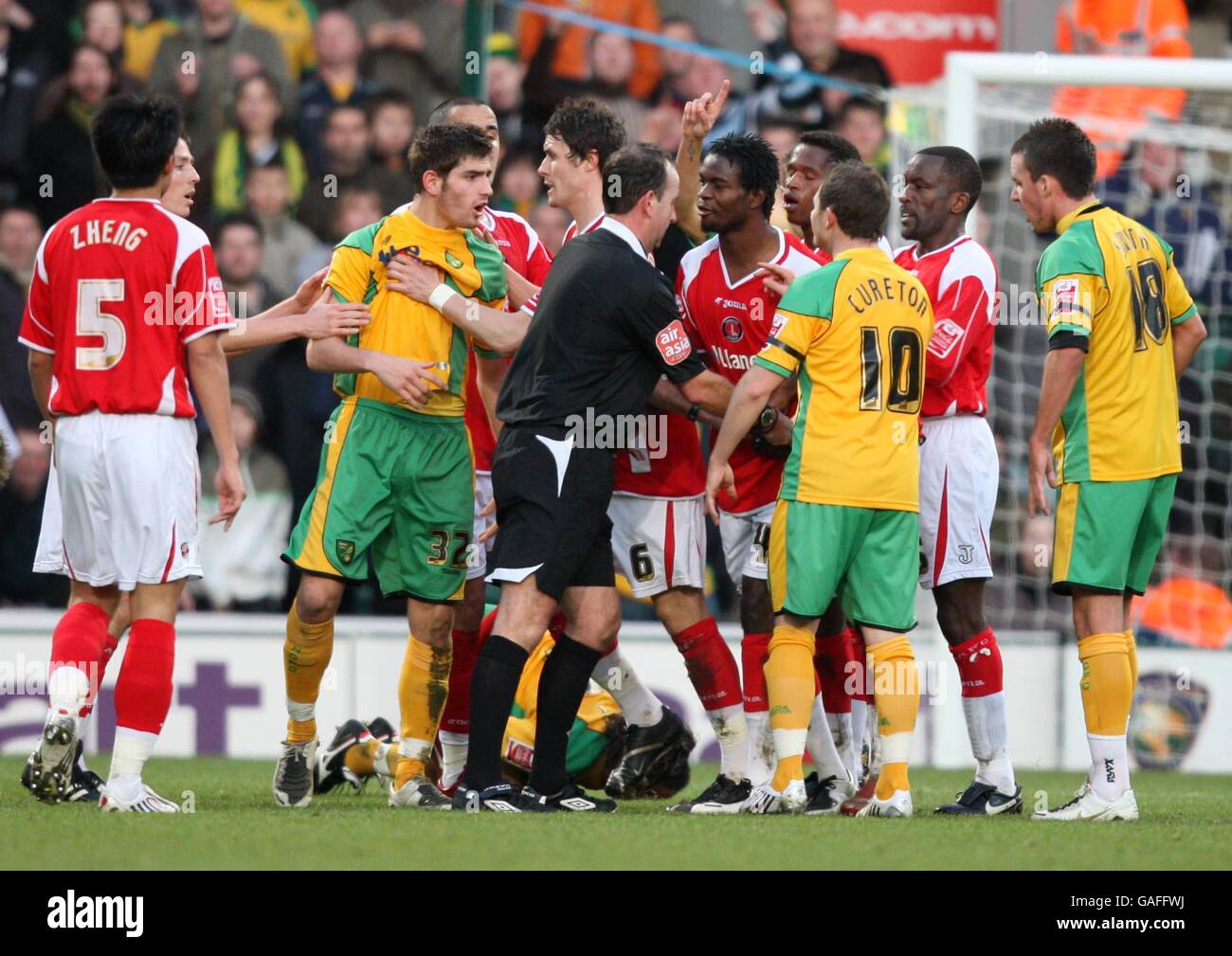 Soccer - Coca-Cola Football League Championship - Norwich City v Charlton Athletic - Carrow Road - Stock Image