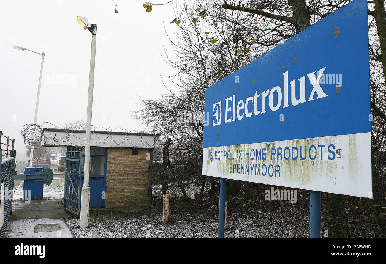 Electrolux Factory To Close Stock Photo 109758249 Alamy