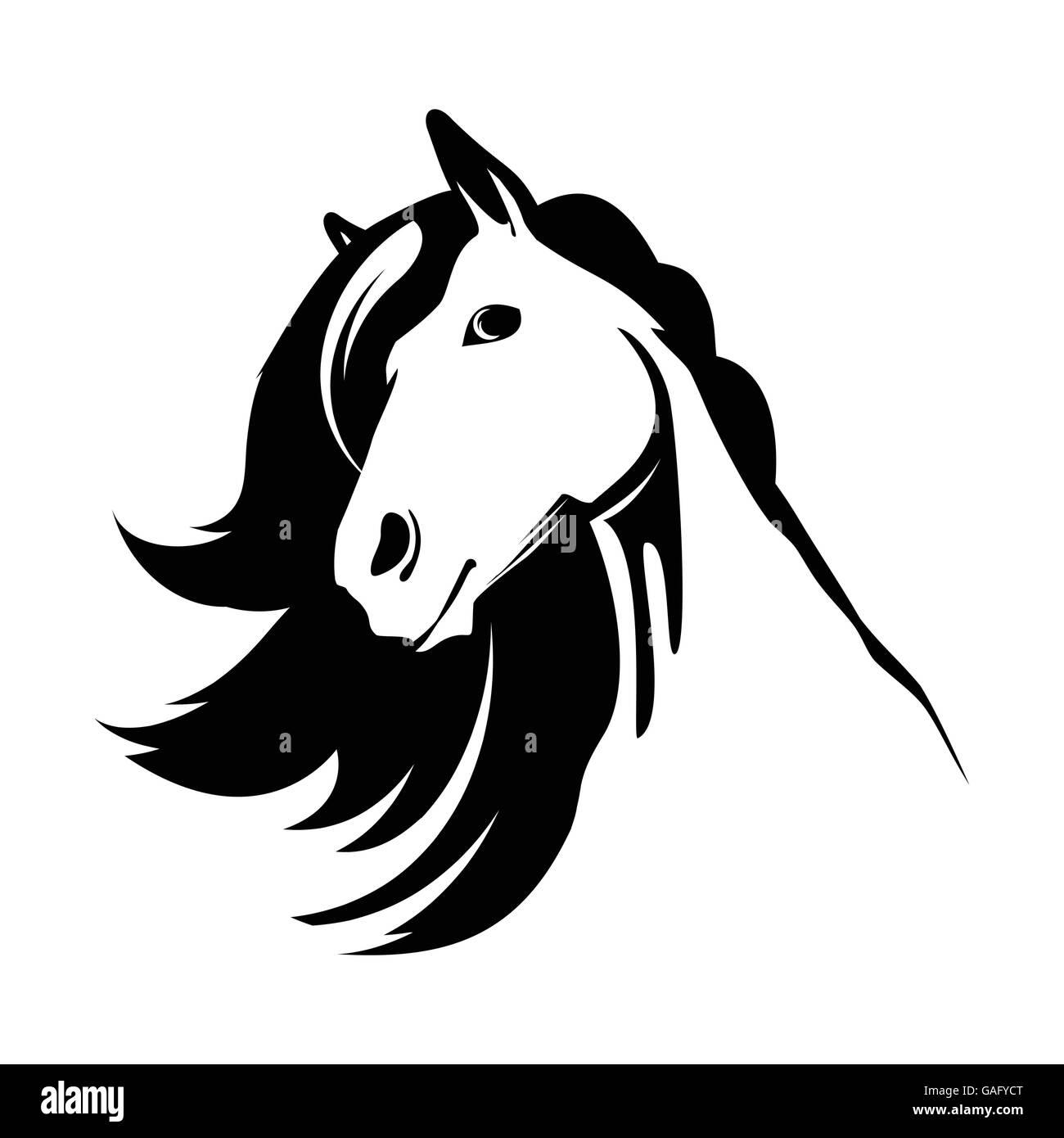 Horse Logo Black And White Stock Photos Images Alamy