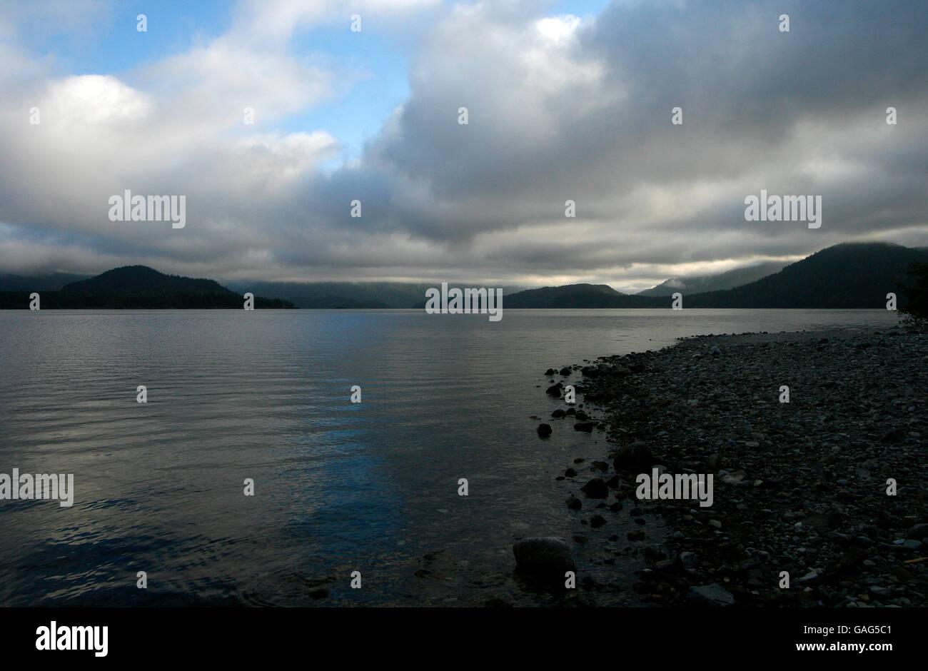 Kennedy lake. Vancouver island. British Columbia. Canada - Stock Image