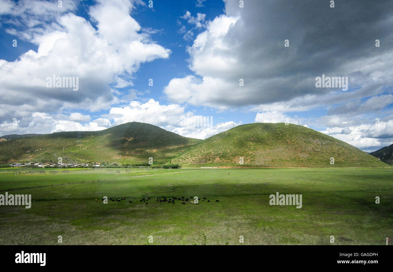 Shangri-La in Yunnan province, China. - Stock Image