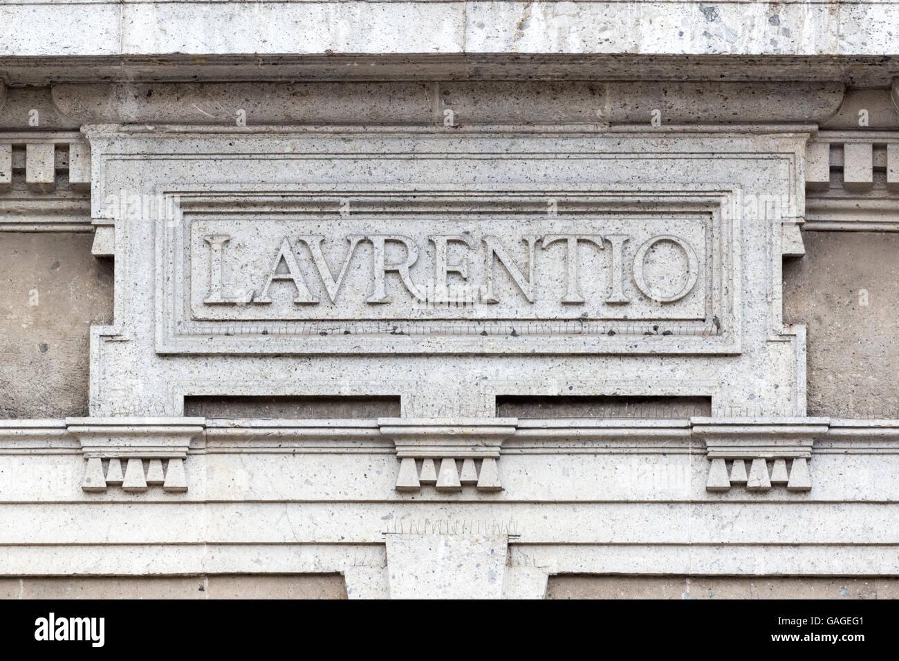 Classic Roman architecture, detailed textures Stock Photo