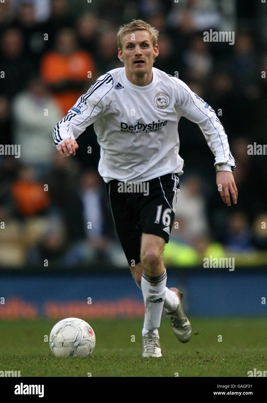 Soccer - FA Cup - Third Round - Derby County v Sheffield Wednesday - Pride Park - Stock Image