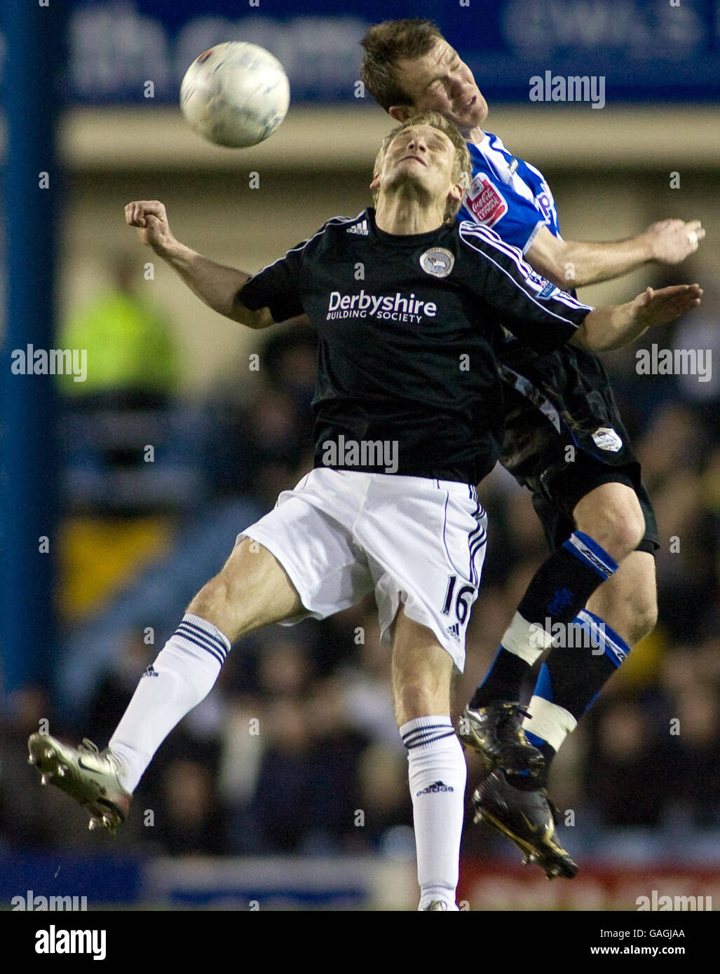 Soccer - FA Cup Third Round Replay - Sheffield Wednesday v Derby County - Hillsborough - Stock Image