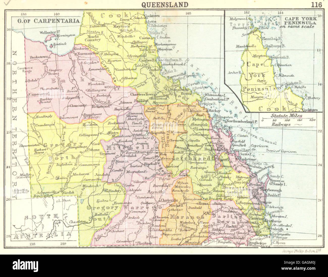 Map Of Australia Cape York Peninsula.Australia Queensland Inset Map Of Cape York Peninsula Small Map