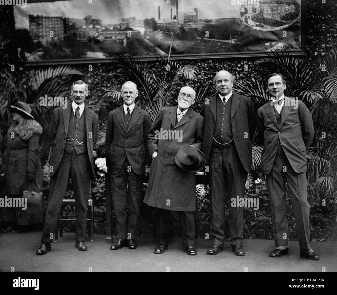 British Industry - Confectionary - The Rowntree Family - York - 1923 - Stock Image