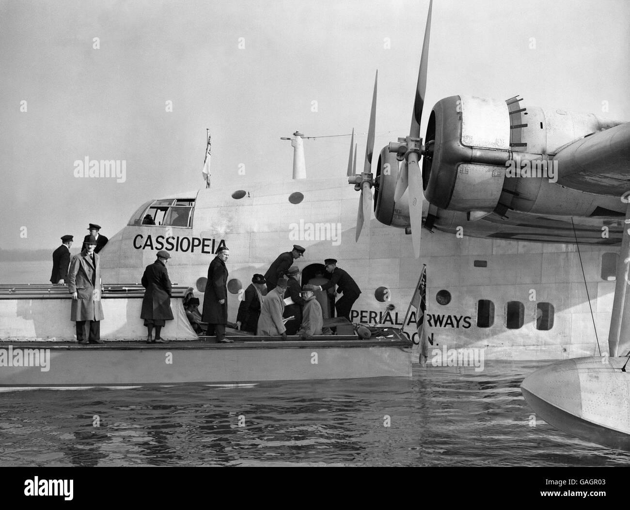 Aviation - Cassiopeia Maiden Flight - Southampton - Stock Image