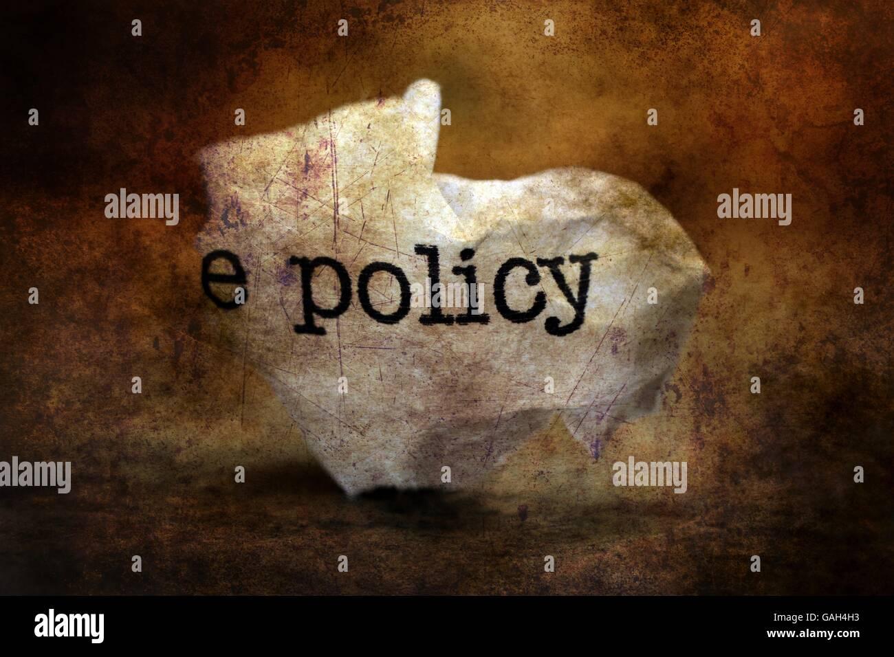 Policy trashgrunge  concept Stock Photo