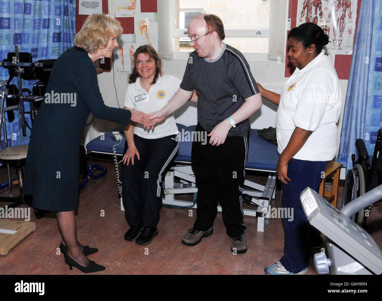 Duchess of Cornwall opens treatment centre - Stock Image