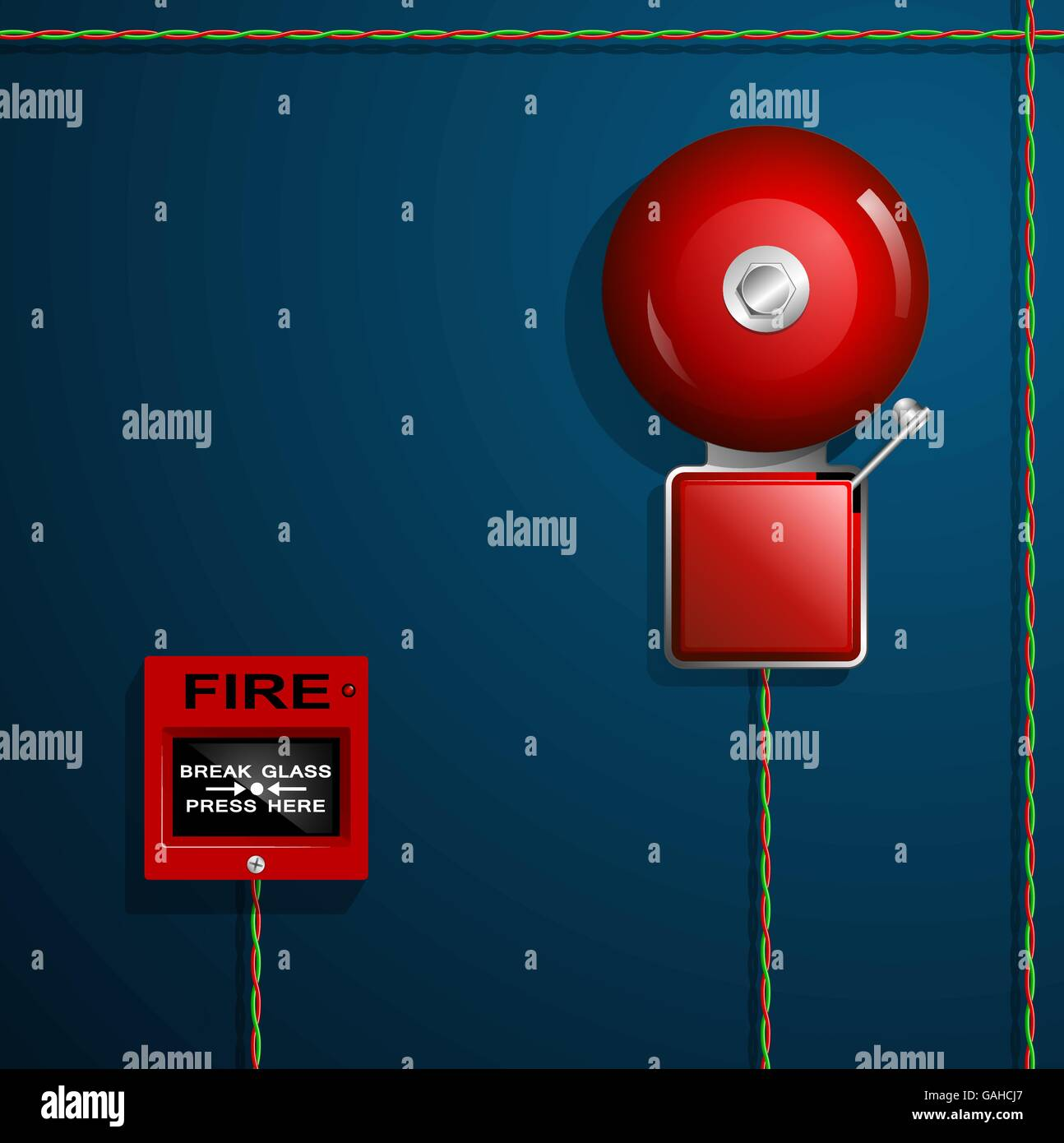 fire bell warning on building stock photos fire bell warning on rh alamy com