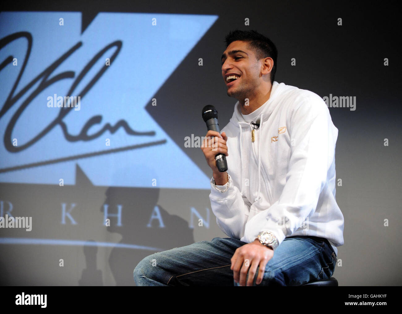 Boxing - Amir Khan Announcement - BFI Southbank - Stock Image