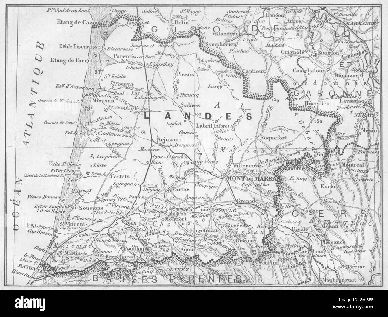 1878 Old Antique Vintage Map Plan Chart haute- Saone Haute-saÔne