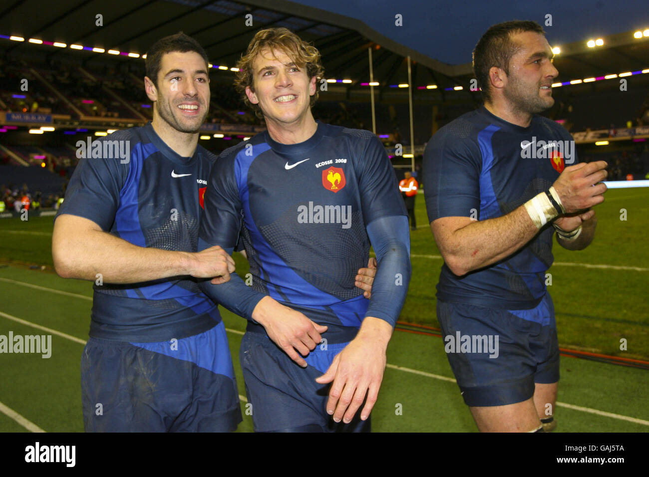 Rugby Union - RBS 6 Nations Championship 2008 - Scotland v France - Murrayfield - Stock Image