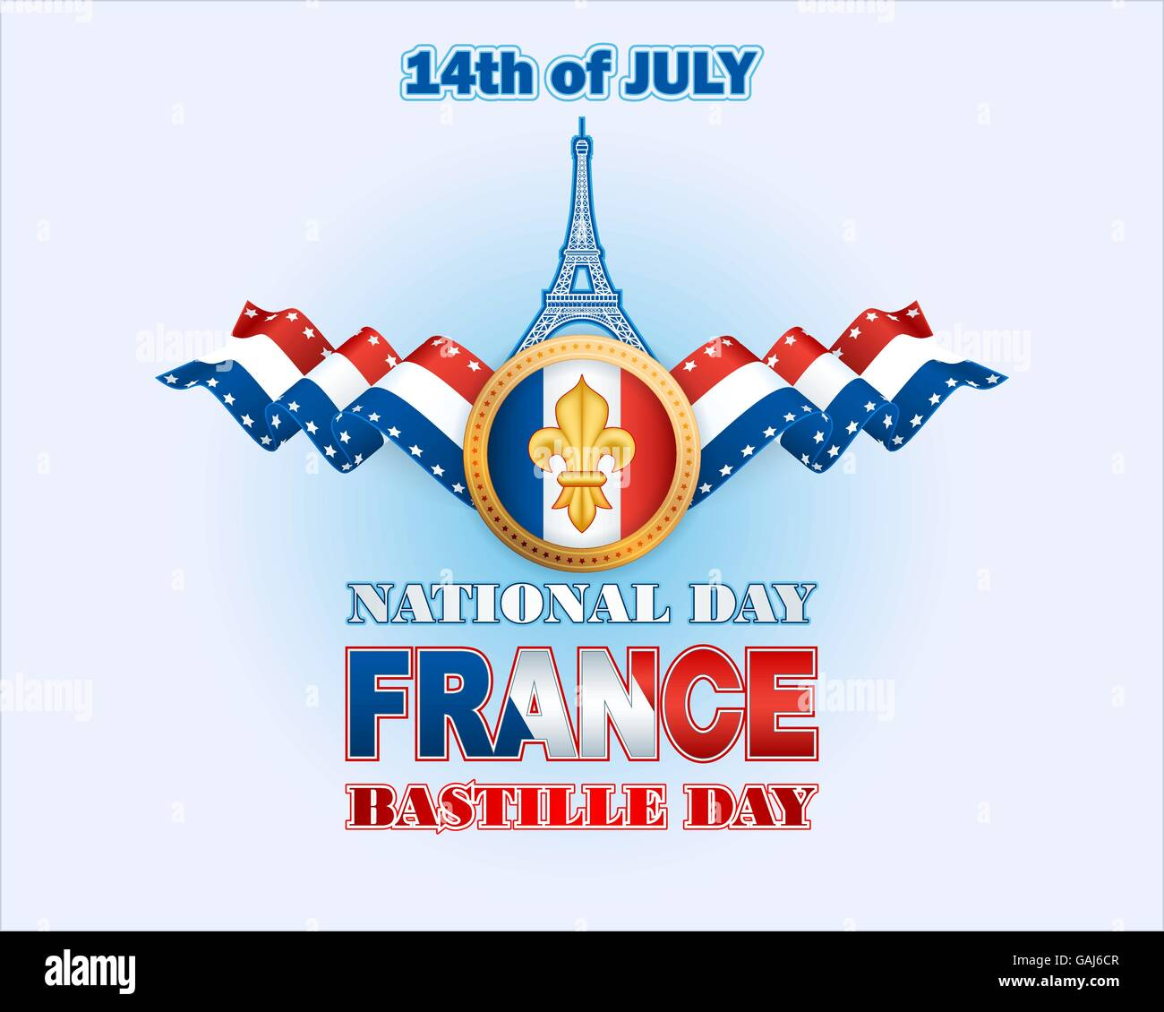 Background with the france flag colors eiffel tower shape and lily background with the france flag colors eiffel tower shape and lily flower symbol for national day of france bastille day izmirmasajfo