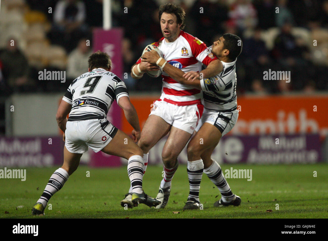 Rugby League - Engage Super League - Hull FC v Wigan Warriors - KC Stadium - Stock Image