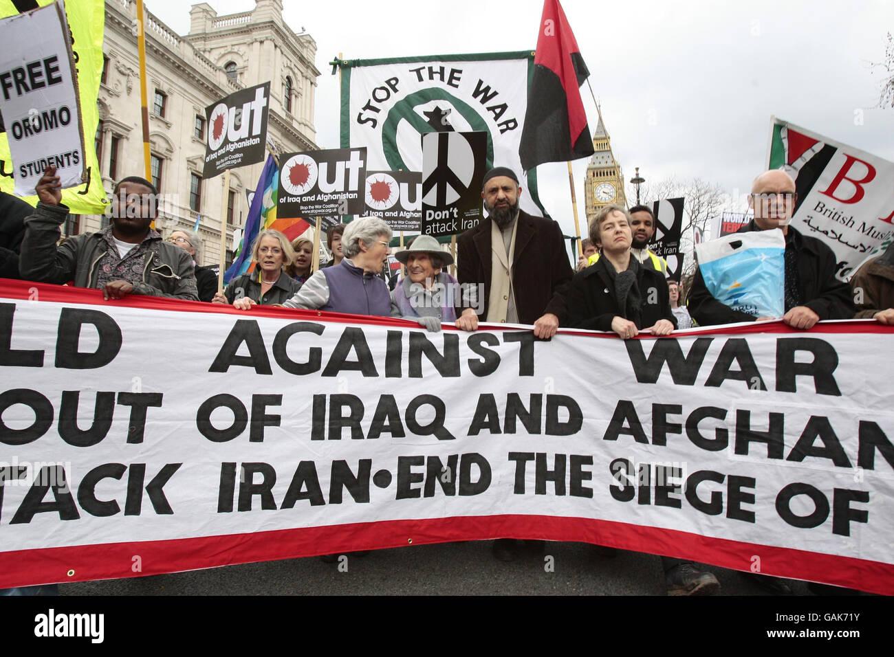 Anti-war protest London - Stock Image