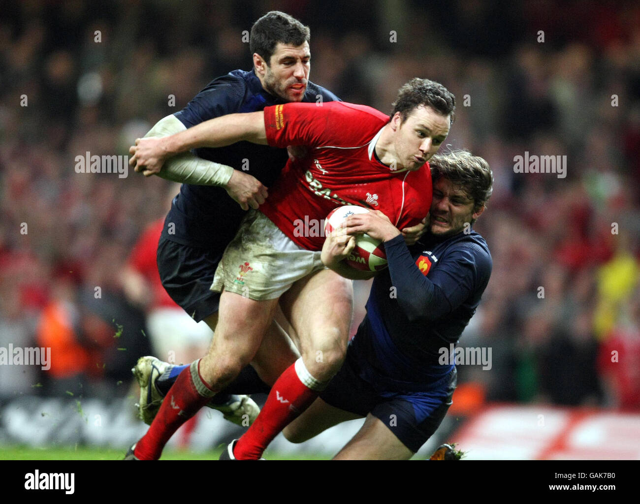 Rugby Union - RBS 6 Nations Championship 2008 - Wales v France - Millennium Stadium - Stock Image