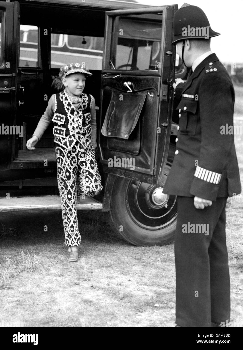 Pearly Kings and Queens - Epsom - 1952 - Stock Image