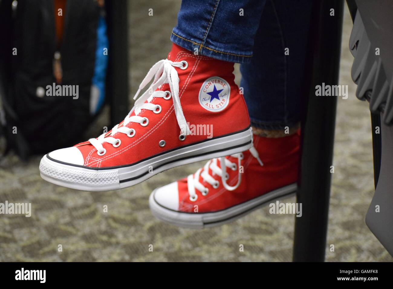 Red Converse - Stock Image