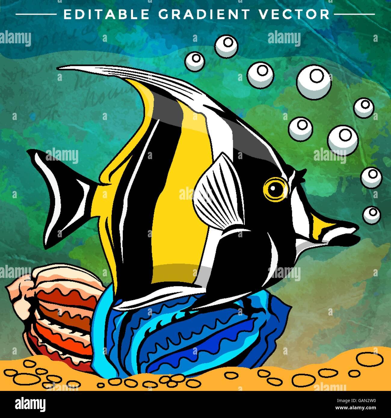 Colorful Aquarium Fish Stock Vector