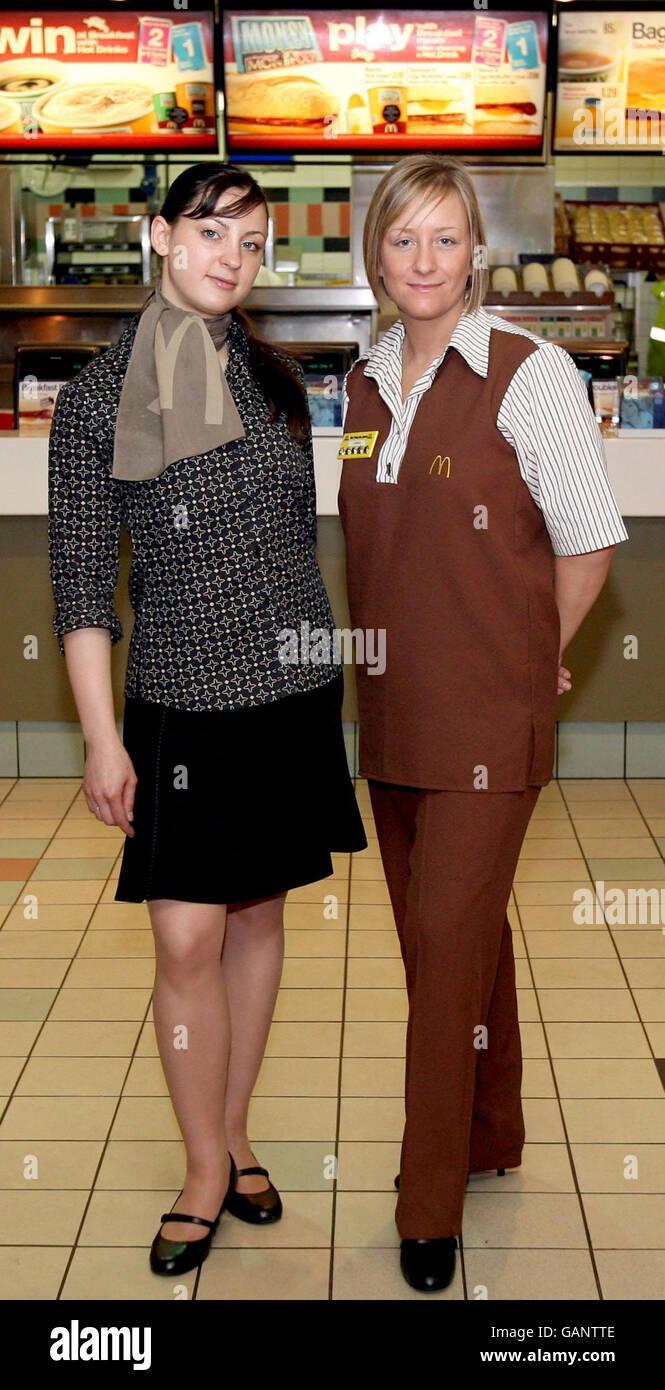 Designer to the stars unveils fast-food uniform Stock Photo