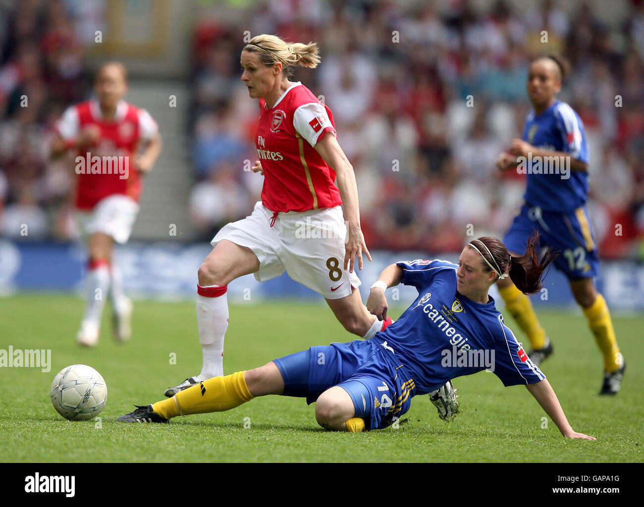 Soccer - FA Women's Cup - Final - Arsenal v Leeds United - City Ground - 2008 Stock Photo